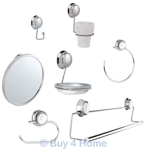Croydex Sutton Chrome Wall Mounted Bathroom Accessories